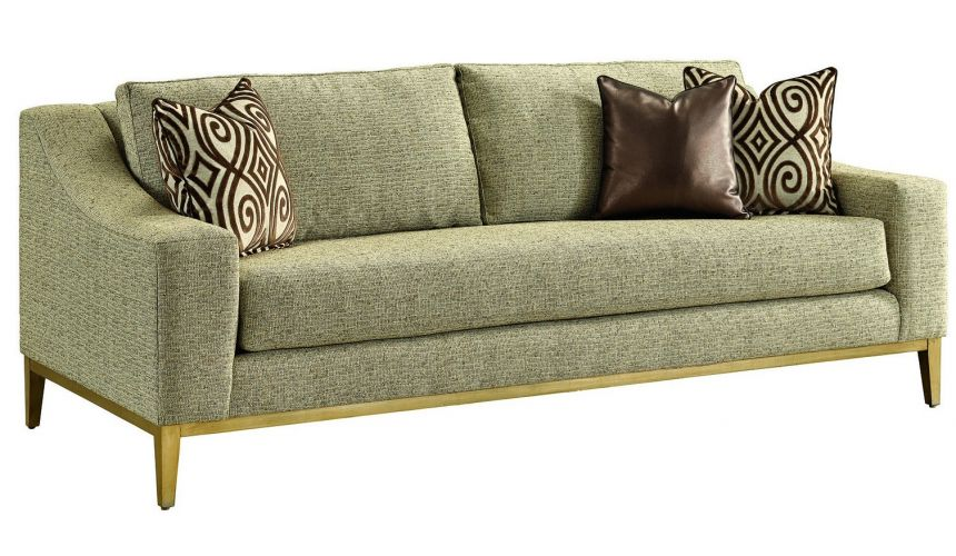 SOFA, COUCH & LOVESEAT Metallic finishing on this sleek luxury sofa and living room set