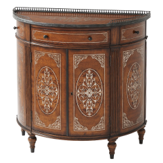 Demilune Cabinet, Luxurious Home furnishings.