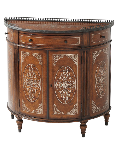Console & Sofa Tables Demilune Cabinet, Luxurious Home furnishings.