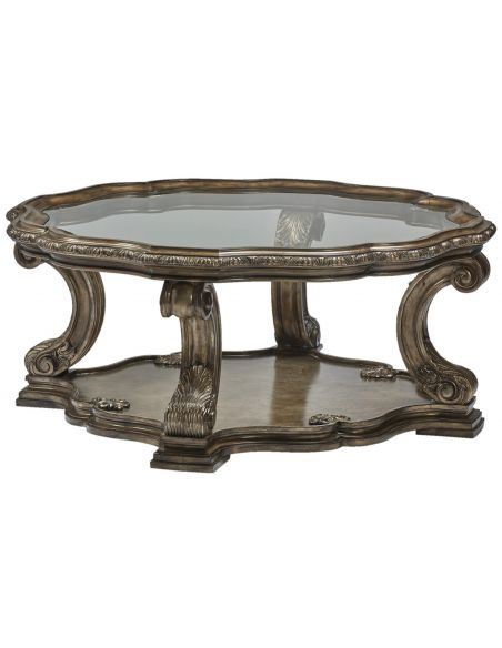 Round and Oval Coffee tables Mystical Glass Center Table