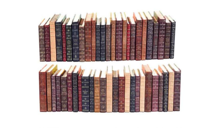 Decorative Accessories Luxurious Home Leather Decorative Faux Books Set/50