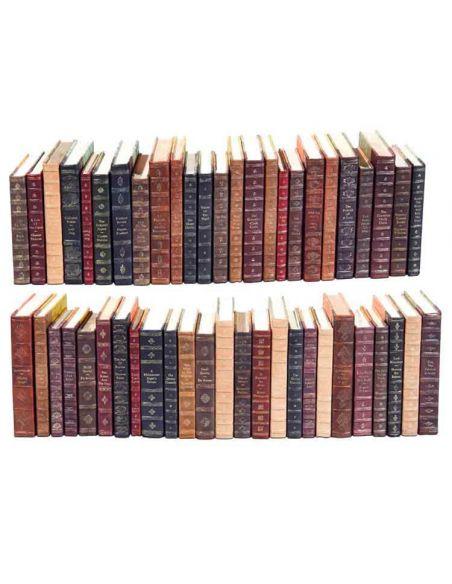 Decorative Accessories Luxurious Home Leather Decorative Faux Books Set/50