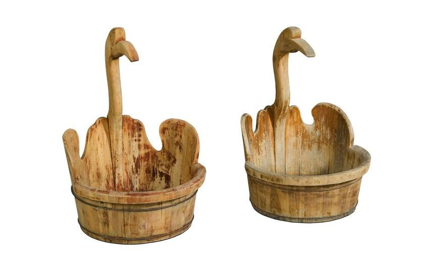 Decorative Accessories Home Accessories Vintage Swan Buckets Mult/2