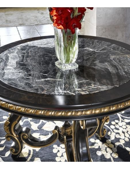 Foyer and Center Tables Antique Looking Black Accent Table
