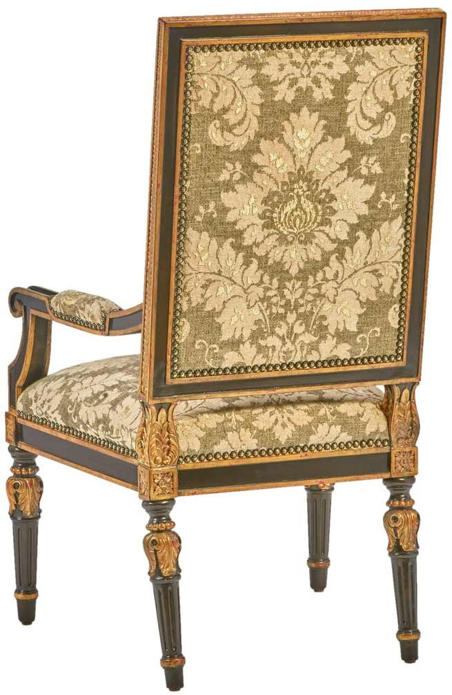 High End Accent Chair with Patterned Fabric