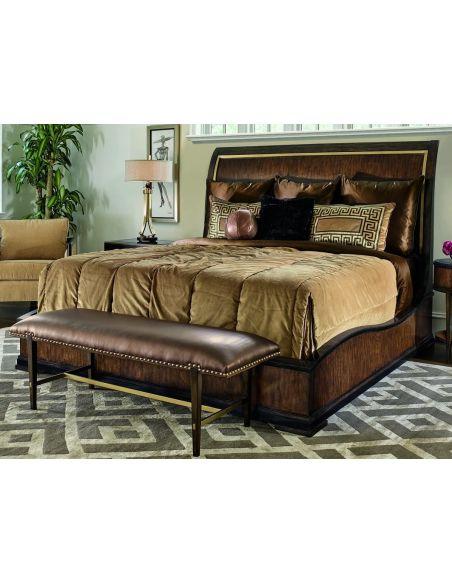 Queen and King Sized Beds Elegantly designed Art Deco styled master bed