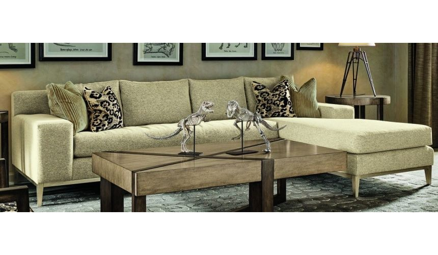 SECTIONALS - Leather & High End Upholstered Furniture Metro style luxury sofa with chaise