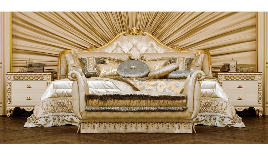 Queen and King Sized Beds Upholstered Bed with Tufted Headboard
