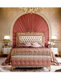 Luxurious Bed with Tufted Headboard