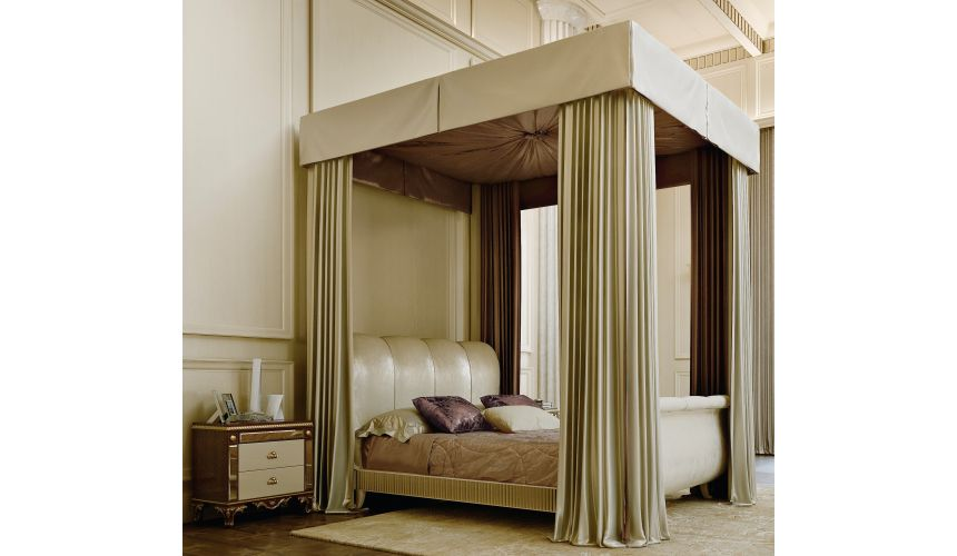 Queen and King Sized Beds Luxurious bed with canopy