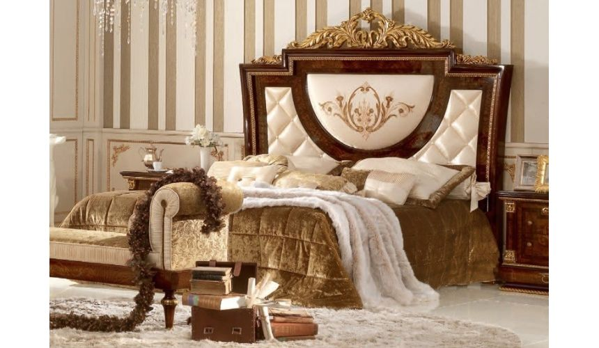 Queen and King Sized Beds Bed with Padded Headboard