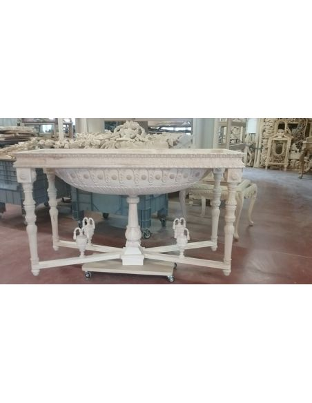Handmade Italian Luxury Furniture Empire style round foyer table