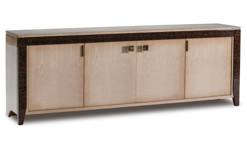 Breakfronts & China Cabinets ALAQUAS COLLECTION. TRANSITIONAL BREAKFRONT
