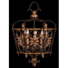Medium lantern on antiqued steel