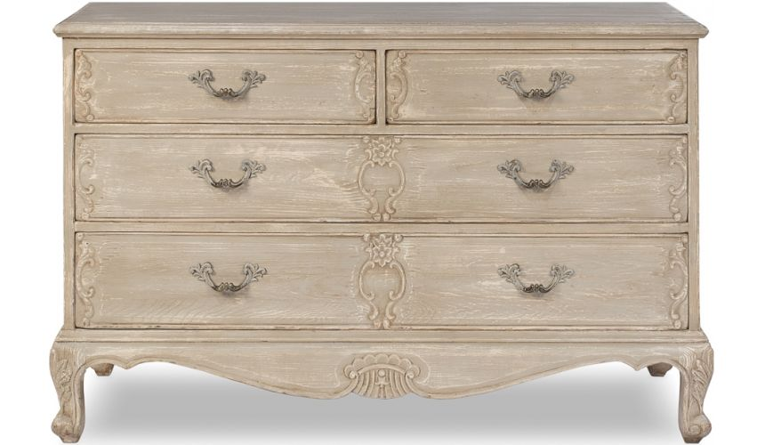 LUXURY BEDROOM FURNITURE Light Grey French Chest