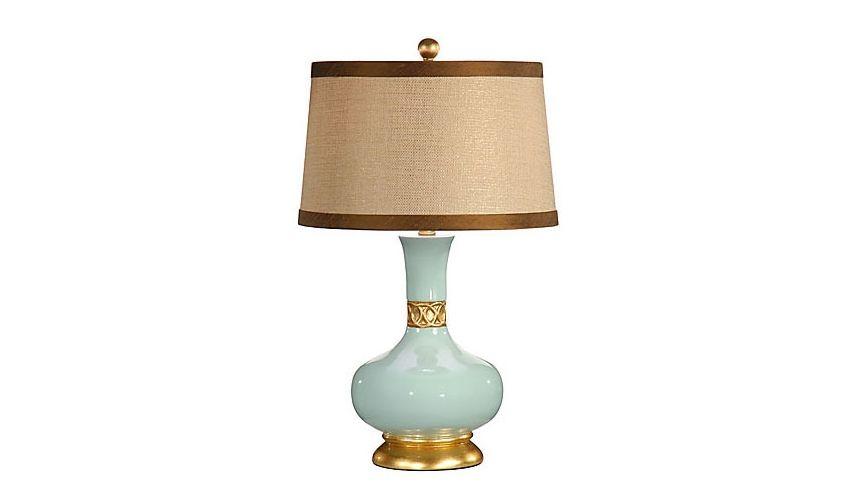 Decorative Accessories Aqua Gold Leaf Pot Lamp