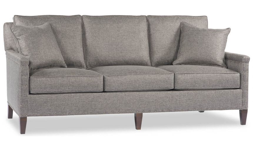 Luxury Leather & Upholstered Furniture Sleek Grey Sofa