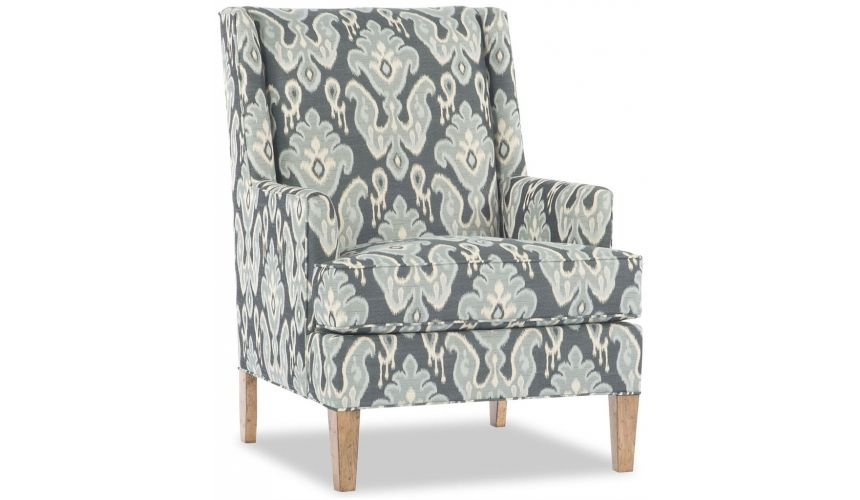 Modern Furniture Navy Print Chair