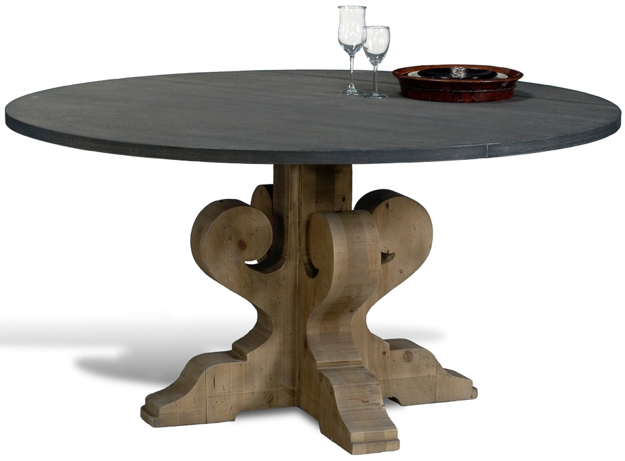 Superbe Dining Tables Tin Top Dining Table.