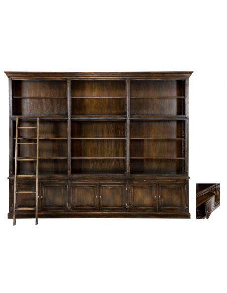 Bookcases Royal Library Cabinet Antq Oak Ebony