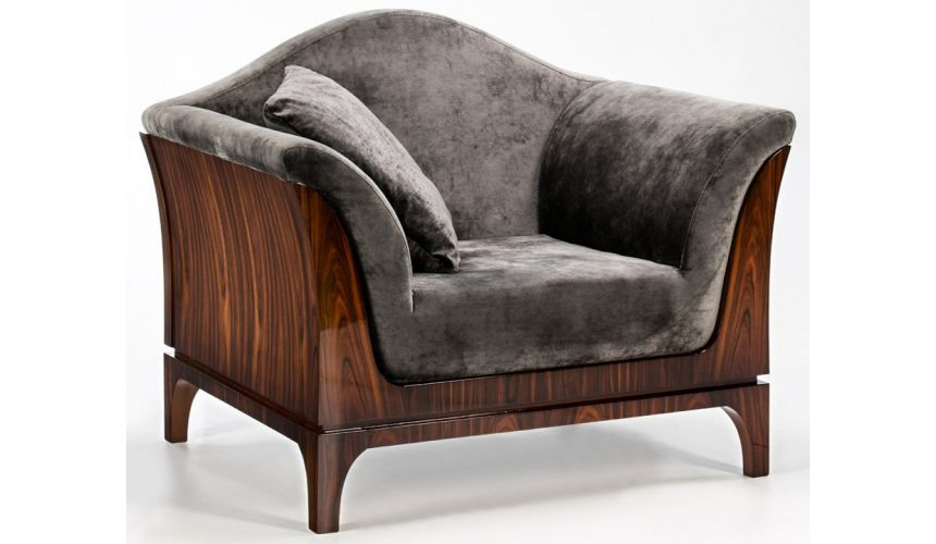 CHAIRS, Leather, Upholstered, Accent CHESIRE COLLECTION. ARMCHAIR B