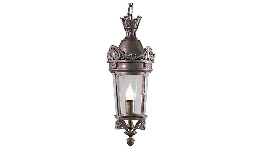 Decorative Accessories Glass Crowned Lantern