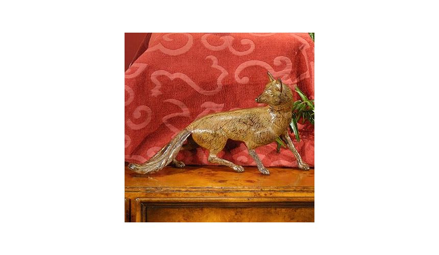 Decorative Accessories High Quality furniture Yellow Bronze Fox