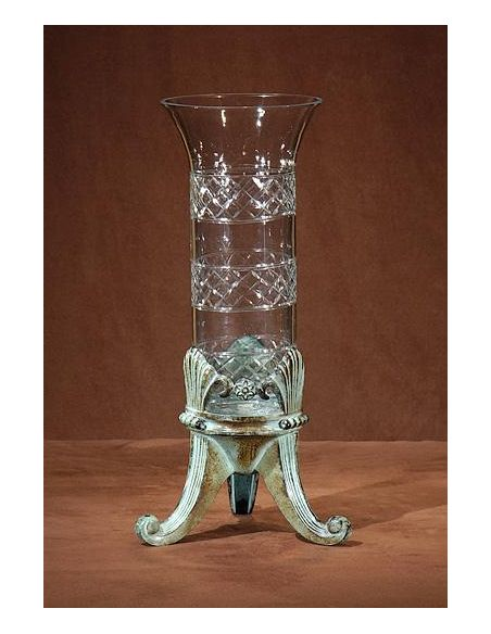 Decorative Accessories Home Accessories Footed Crystal Vase