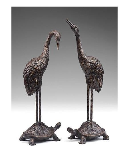Decorative Accessories Home Accessories Luxurios Turtles Cranes