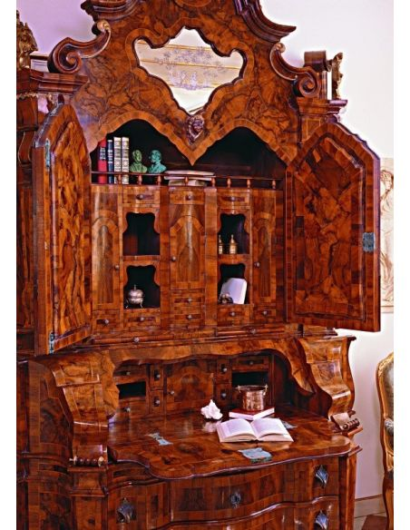 French Style Furniture Large secretary desk with cabinet. King Louis Collection