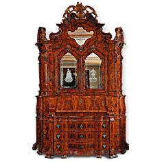 Large secretary desk with cabinet. King Louis Collection