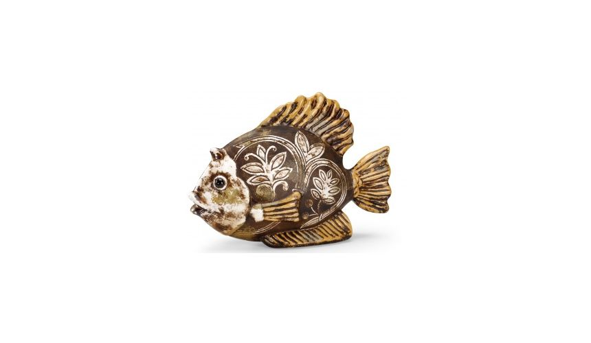 Decorative Accessories Brown Golden Aquatic Adornment