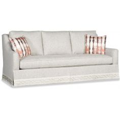 Transitional sofa with nicly detailed skirt