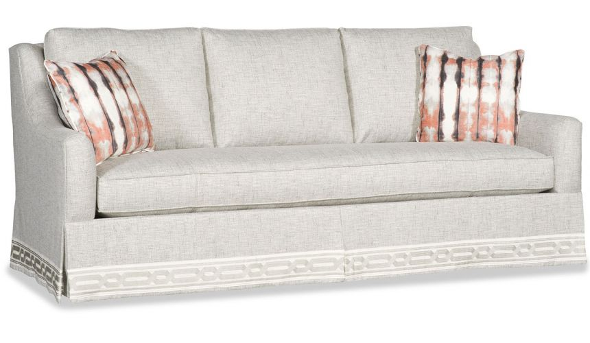 SOFA, COUCH & LOVESEAT Transitional sofa with nicly detailed skirt