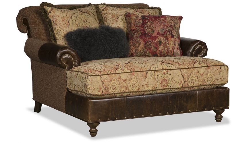 SETTEES, CHAISE, BENCHES Luxury Chocolate Swirl Settee