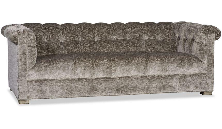 SOFA, COUCH & LOVESEAT High End Plush Grey Sofa