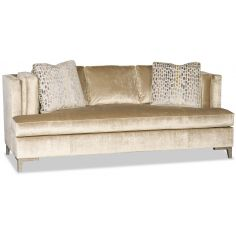 Fancy and Plush Gold Sofa