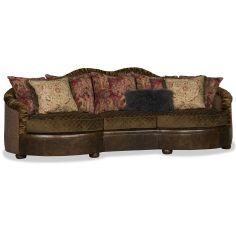 High End Dark Oak Quilted Sofa