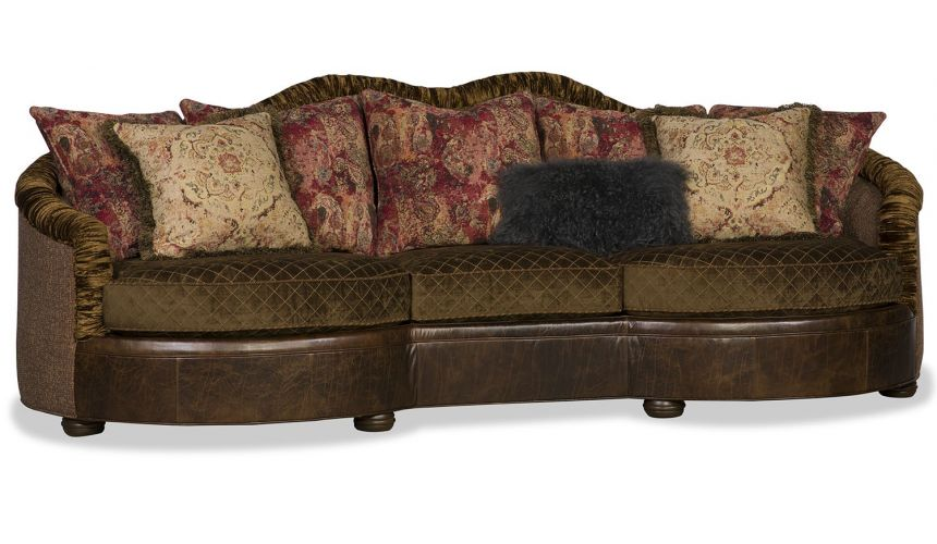 SOFA, COUCH & LOVESEAT High End Dark Oak Quilted Sofa