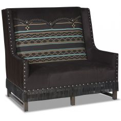 Black Western Style Arm Chair