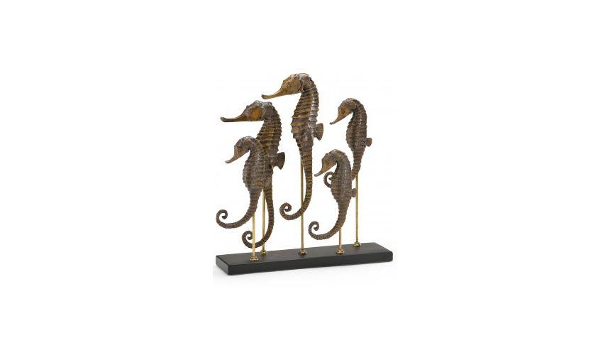 Decorative Accessories Ornate Sea Horse Decoration