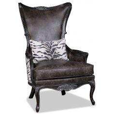 Elegant Charcoal Arm Chair