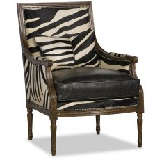 Chic Black and White Hair on Hide Chair