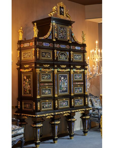 Display Cabinets and Armories A monumental cabinet from our furniture showpiece collection