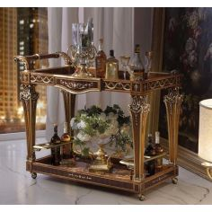 Royal and Luxurious Bar Cart from our Venetian modern classic collection 7025