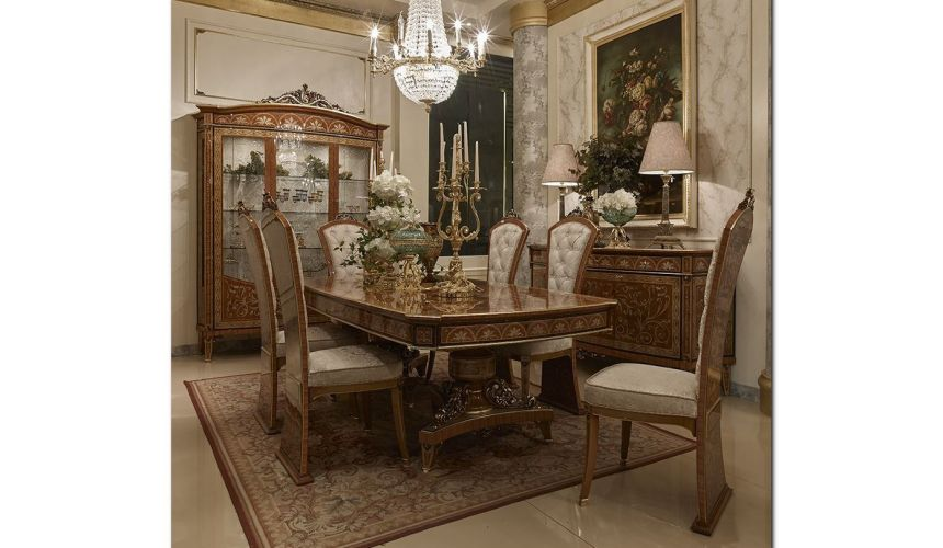 Dining Tables Palatial High End Dining Set from our Venetian modern classic collection