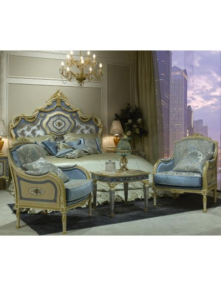 CHAIRS, Leather, Upholstered, Accent Royal Cinderella Master Bedroom Set from our Venetian modern classic collection 7032