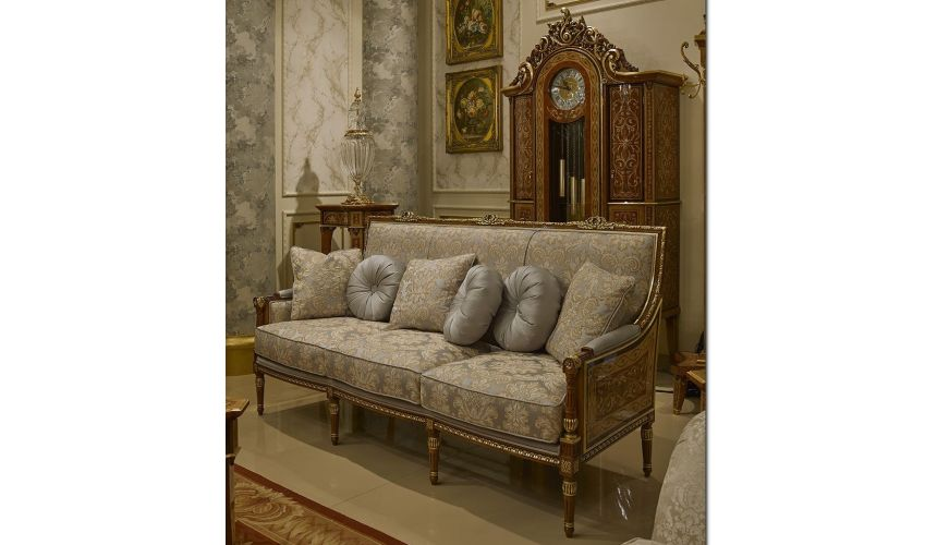 SOFA, COUCH & LOVESEAT Royal and Refined Pastel Blue Sofa from our Venetian modern classic collection 7013