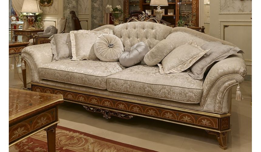 SOFA, COUCH & LOVESEAT Royal Snow White Sofa from our Venetian modern classic collection 7014