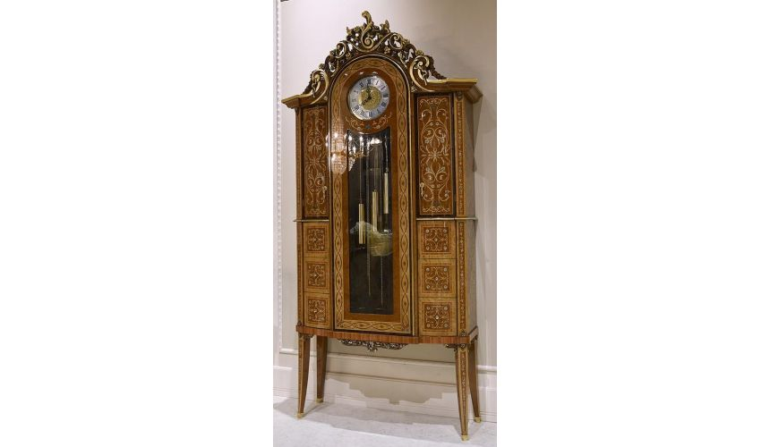 Display Cabinets and Armories Royal and Luxurious Grandfather Clock from our Venetian modern classic collection 7016